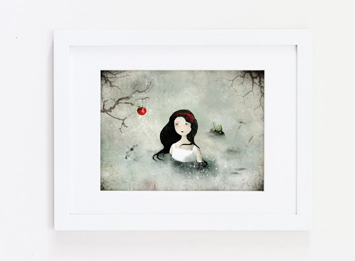 Prints By Deluxe: Snow White Deluxe Edition Print Whimsical Art