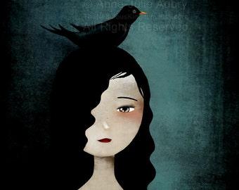 Blackbird - Deluxe Edition Print - Whimsical Art