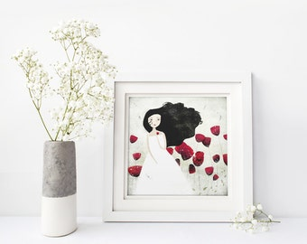 Poppies 12/50 (Second Edition) - Deluxe Edition Print - Whimsical Art