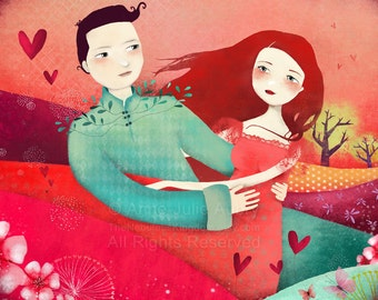 Fields of Love - open edition print - Whimsical Art
