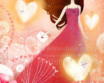 Heart Lanterns 25/50 - Deluxe Edition Print - Whimsical Art