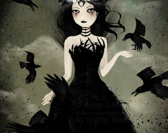 The Crow Queen 8/100 - Deluxe Edition Print - Whimsical Art