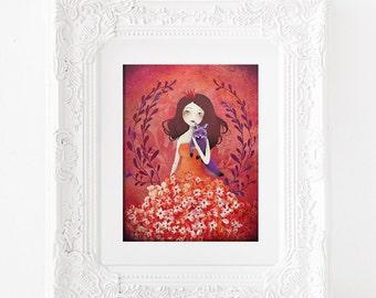 Purple Fox - Deluxe Edition Print - Whimsical Art