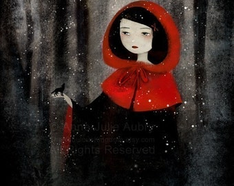 Little Red and the Wolf 83/100 - Deluxe Edition Print - Whimsical Art