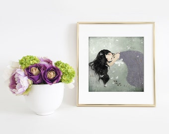Les Papillons 27/50 (second edition) - Deluxe Edition Print - Whimsical Art