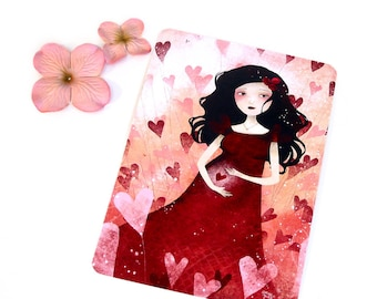 Explosion d'Amour - Illustrated Postcard