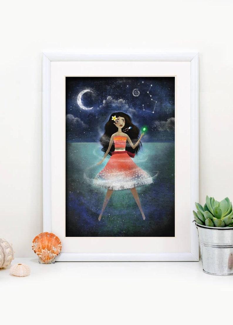 Moana  Disney Princess   Deluxe Edition Print  Whimsical image 0