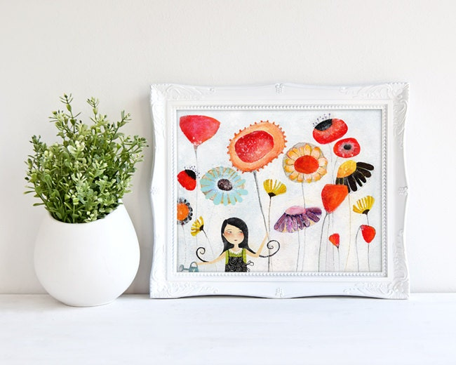 Prints By Deluxe: My Herborarium Deluxe Edition Print Whimsical Art
