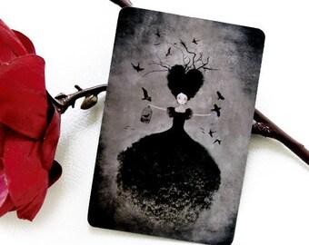 La Sorcière Noire - Illustrated Postcard