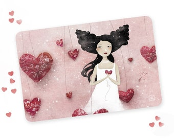 Some Hearts Wander - Illustrated Postcard