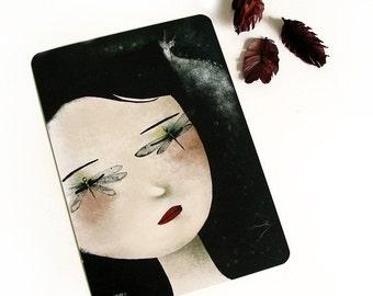 Souvenirs - Illustrated Postcard