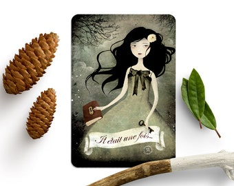 Il Etait une fois (Once upon a time) - Illustrated Postcard