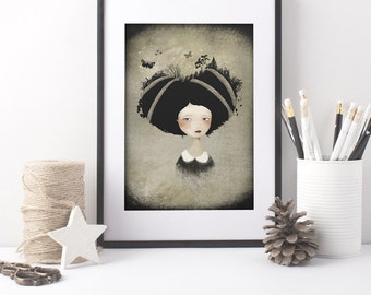 As She Carries 20/100 - Deluxe Edition Print - Whimsical Art