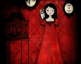 The Red Room - Deluxe Edition Print - Whimsical Art