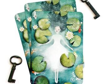 Lotus - Illustrated Postcard