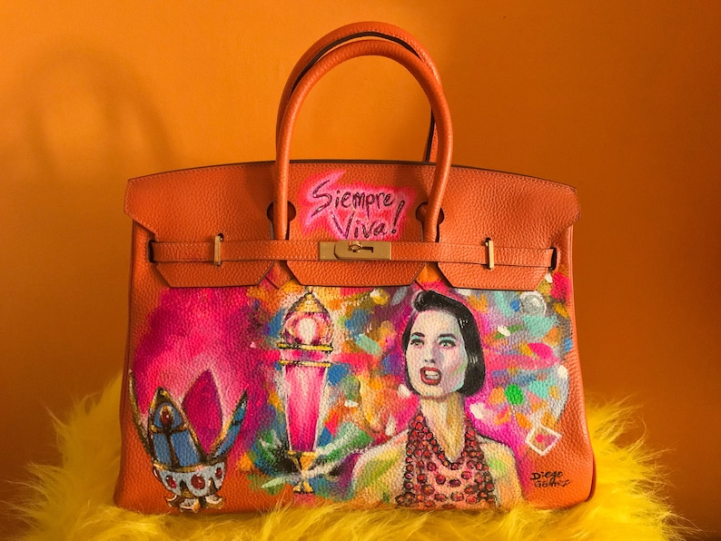 f86fb4bbba82 I paint your purse Custom Hermes Birkin death becomes her