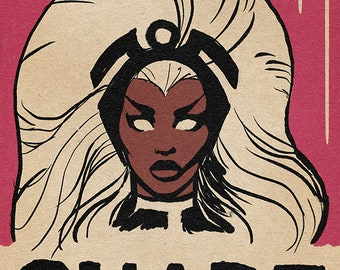 Storm Corey, Dorian Corey, Shade came from Reading, Paris is Burning, X-Men, Ororo Munroe, Storm, Pop art, comix poster