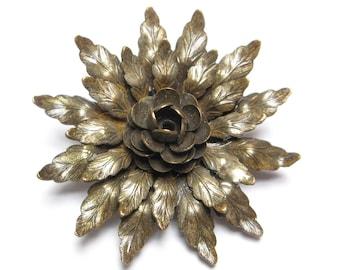 VINTAGE Dress CLIP Flower Shoe Clip Flower Dress Clip Flower Fur Clip Layered Floral Pin Brooch Pendant 1930s Jewelry 1930s Dress Clip