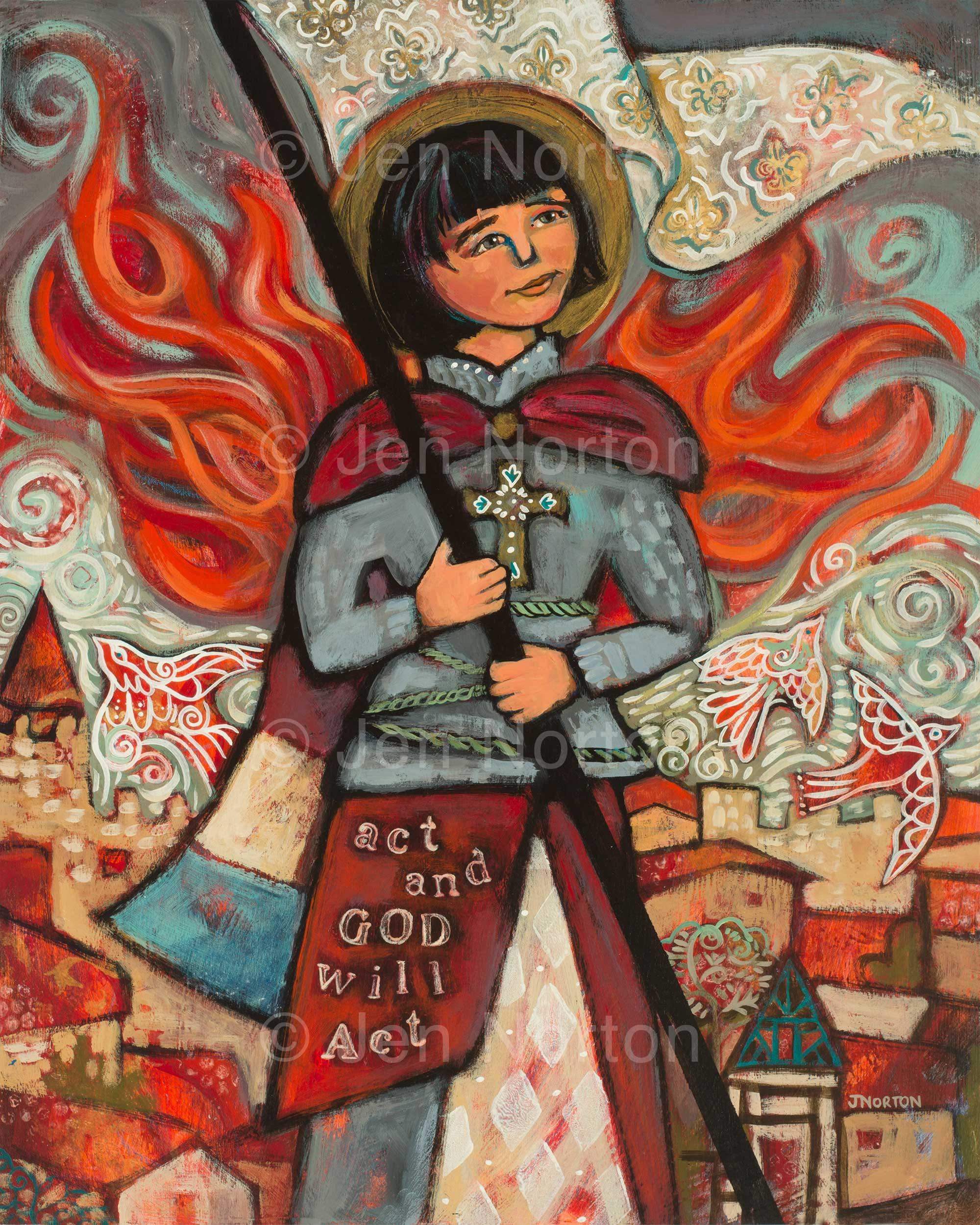 Joan of Arc The Maid of Orléans 11x14 Fine Art Print