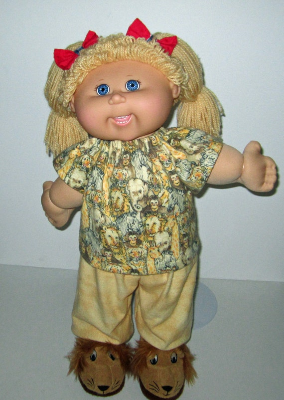 Cabbage Patch 16 inch KIDS Girl Doll Handmade Brown Fall Bear One Outfit 3 Ways Clothes Only
