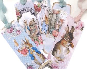 Bookmarks, Peter Rabbit, Vintage Retro Tag, Paper Bookmark, Tea Party Favor, Bunny Rabbit Favour , Fairytale Children Party, Australia