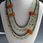PRICE DROP - WAS 75.00 | Multi-strand Necklace | Quartz, Jade and Amber Necklace |