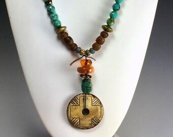 Turquoise Long Necklace | Boho Vibe Necklace |