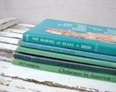Vintage Blue and Green Children's Book Decorator Set
