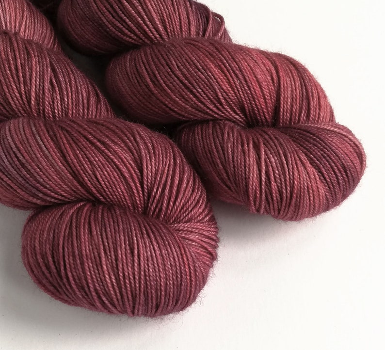 Hand dyed MCS 4ply/fingering weight yarn Superwash image 0