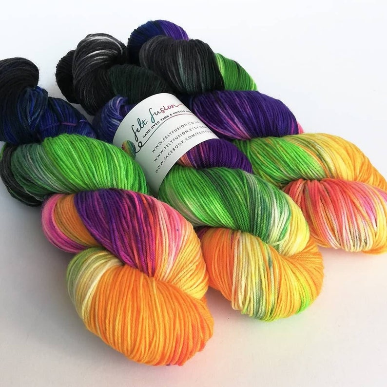 Hand dyed yarn pre-order.  Cat People colourway variegated image 0