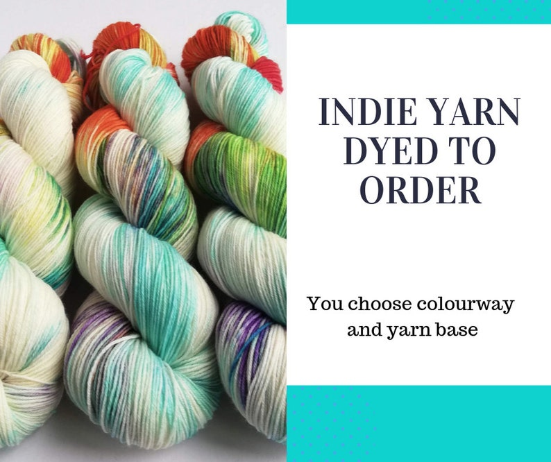 Hand dyed wool yarn. Custom dyed to order hand dyed yarn. image 0