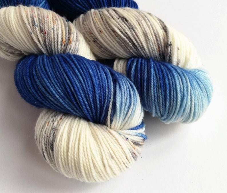 Hand dyed sport weight yarn variegated 80/20% superwash image 0