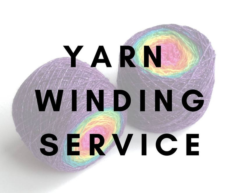 Yarn winding service yarn caking yarn cake yarn ball hand image 0