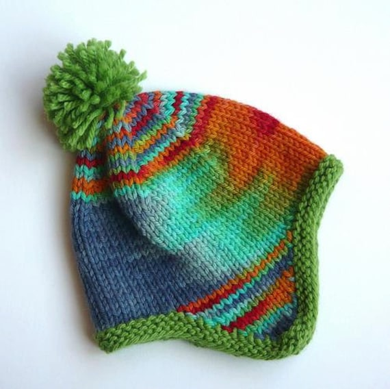 Custom made to order knit ear flap hat. Trapper hat  33585af98c2