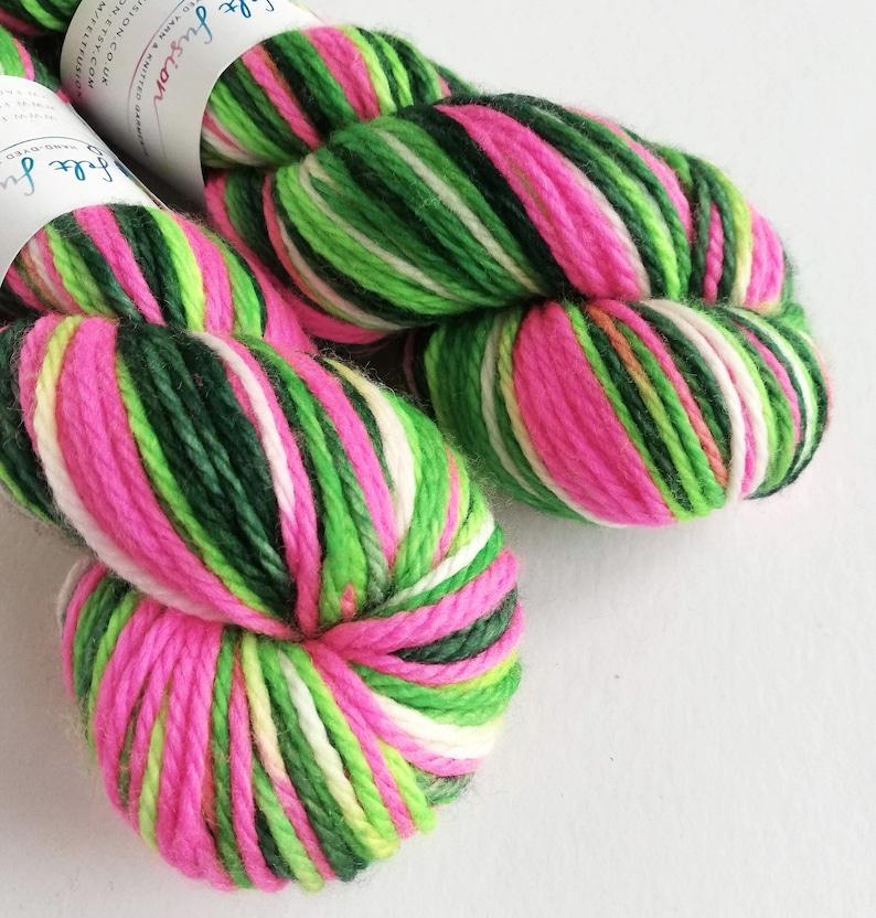 Hand dyed MCN aran yarn  superwash merino/cashmere/nylon aran image 0