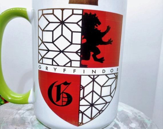 Hogwarts Gryffindor Shield  Mug, Ceramic Cup, 15 ounce
