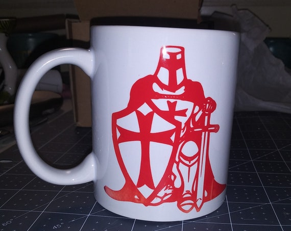 Red Knight Coffee Cup,  Designer Mug, Ceramic Cup,