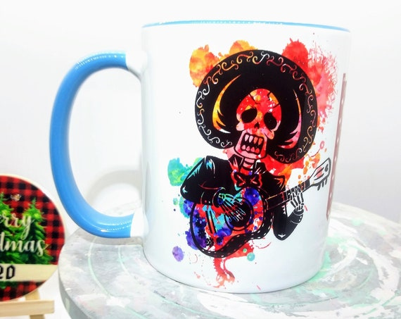 Day of the Dead Design Mug, Ceramic Cup, 11 ounce
