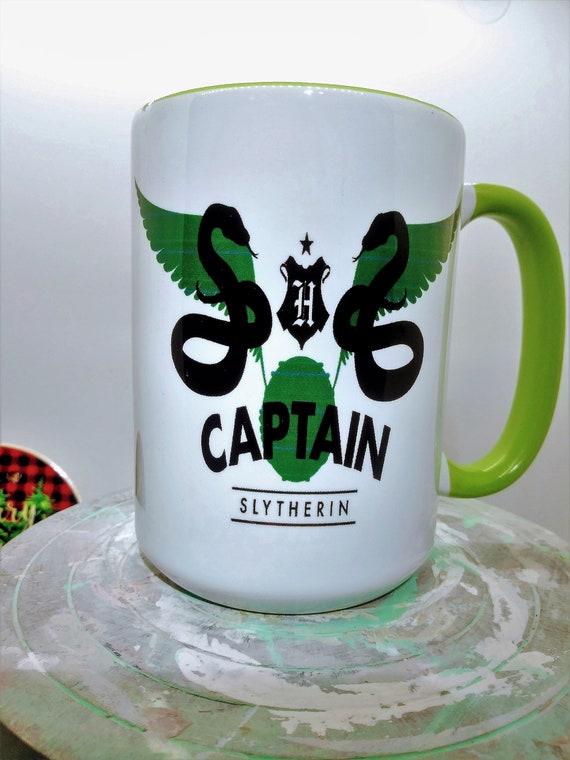 Slytherin Captain Mug, Ceramic Cup, 15 ounce
