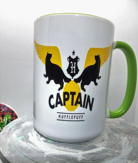 Hogwarts  Hufflepuff Captain Mug, Ceramic Cup, 15 ounce