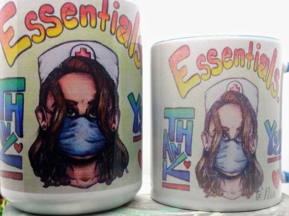 """Essential Nurse """"Thank You""""  Design Mug, Original design"""
