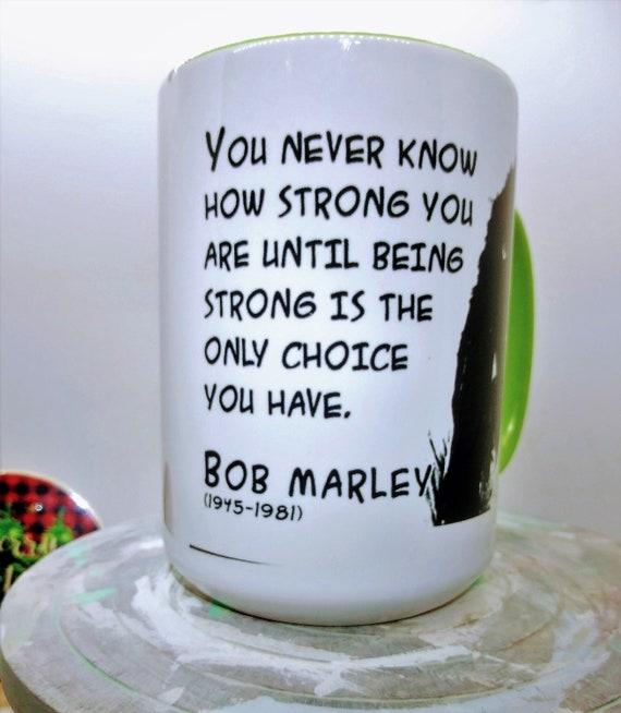 Bob Marley Mug, Ceramic Cup, 15 ounce