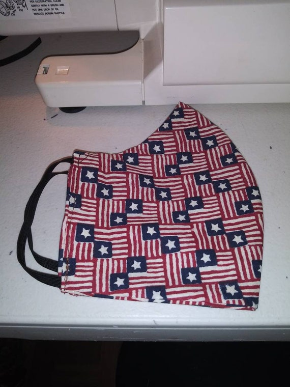 Face Mask, Adult,  Double sided, Dust Face Mask,Cotton Fashion Stars and Stripes, Washable, reversible
