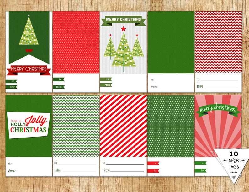 Instant Download Christmas Tags Printable Holiday Labels image 0