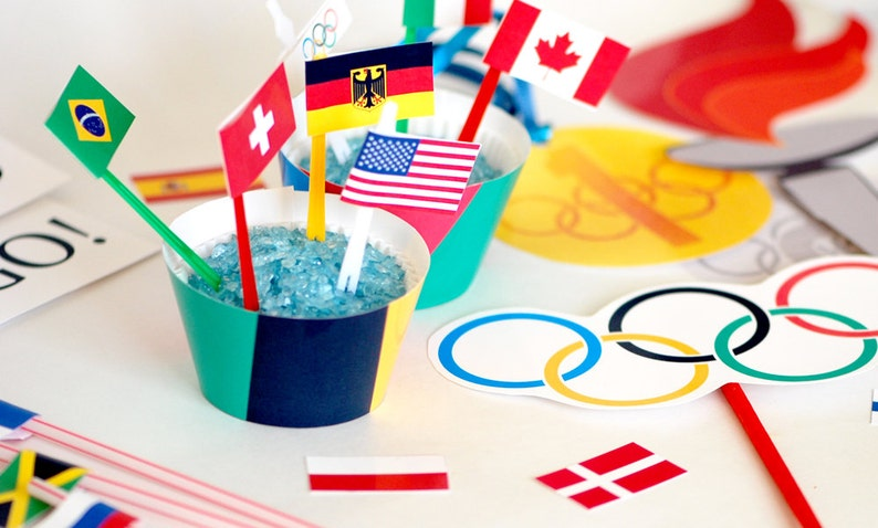 Instant Download Olympic Party Printable Set  Photo Booth image 0