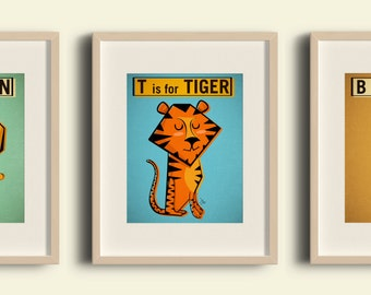Lions and Tigers and Bears oh my INSTANT DOWNLOAD clip art Prints