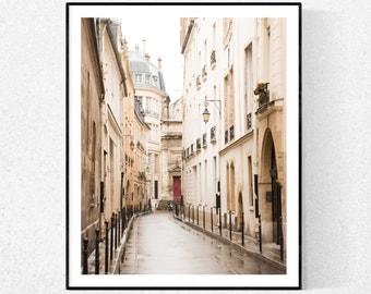 Paris Photography, Quiet Morning in the Marais, St Paul, Rainy Day in Paris, Paris Wall Art, Paris Photography Print