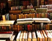 Paris Photography - Books for sale along the Seine - France, antique books in France, travel, Europe, Office Decor, Paris Print