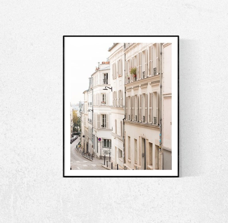 Paris Photography Quiet Streets of Montmartre Parisian image 1