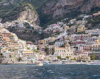 Italy Photography, Holiday in Positano, Amalfi Coast, Italy, beach photography, home decor, Beach Art, bedroom art, Positano umbrellas